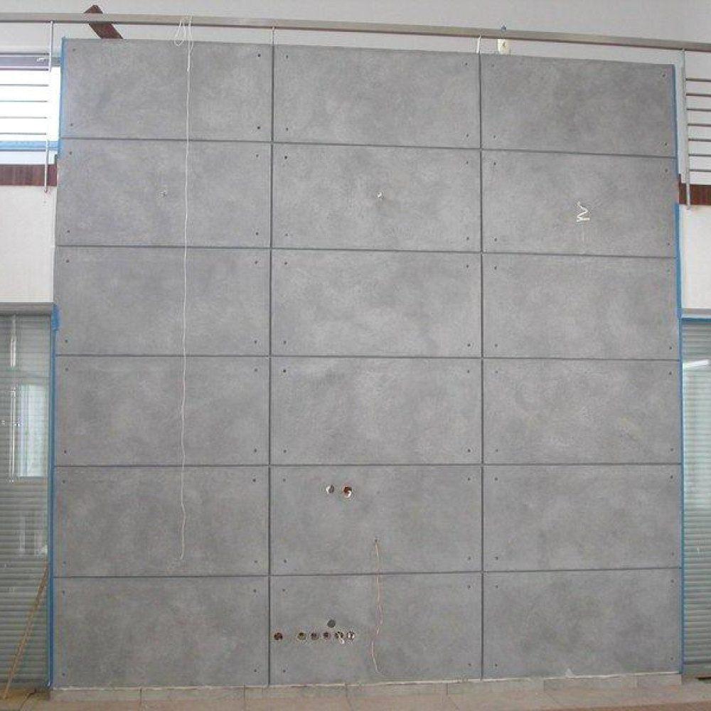 dekoracja sciana beton podzialy bloki